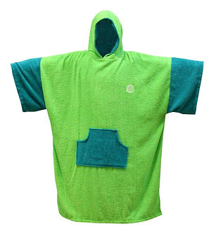 Poncho Madness Fluro Lime Teal