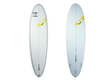"Surf Blackwings 6'8""Egg Wave RocketCristal Clear"