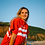Thumbnail: Poncho Northcore Stripey Beach Basha  - Rouge