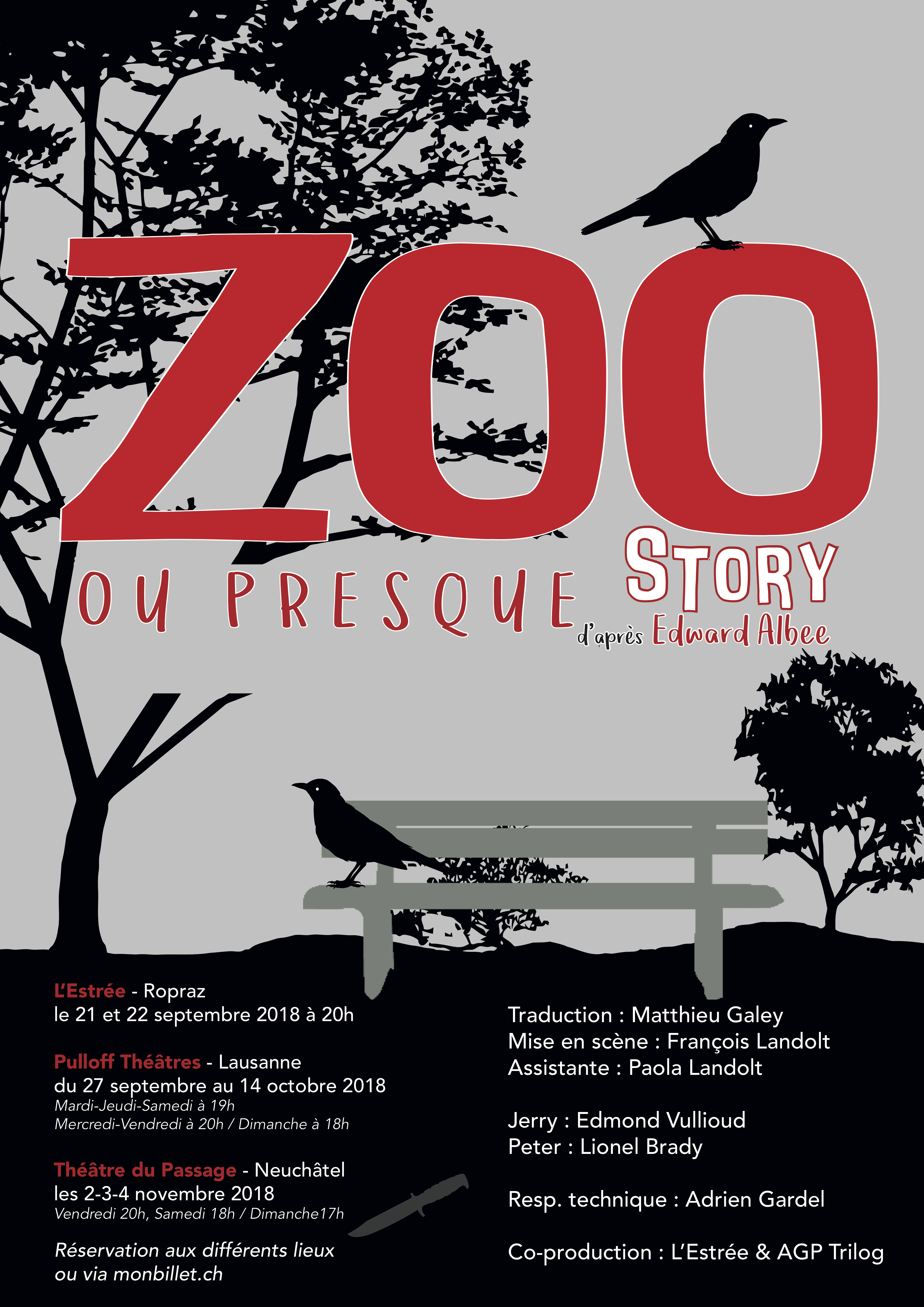 Affiche Zoo Story