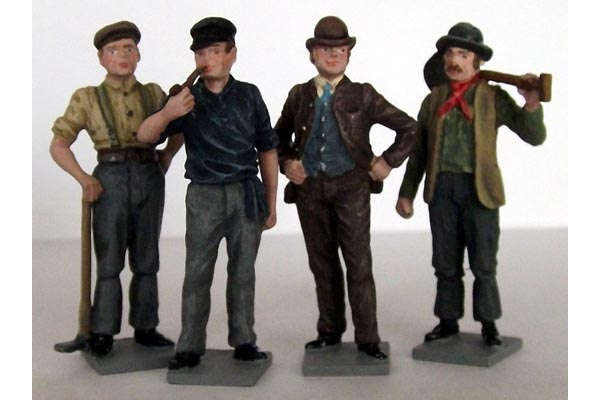 Victorian Navvies 1 (painted, on bases)