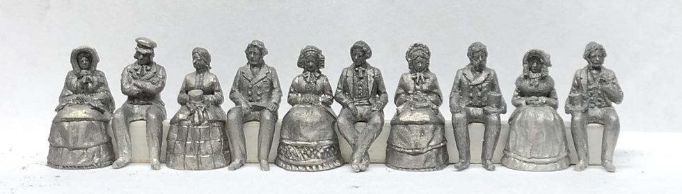 OO15 Mid Victorian Seated People