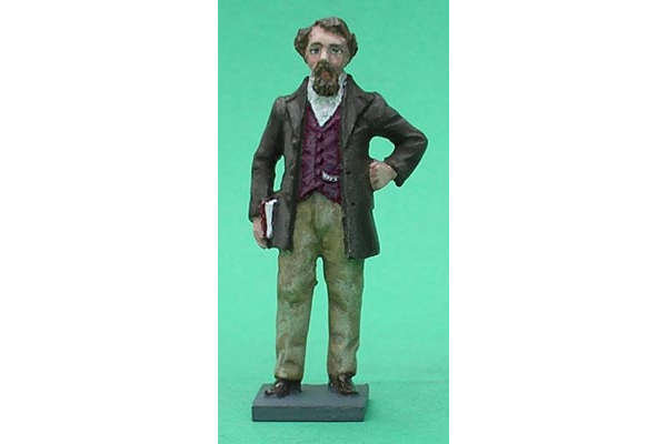 Charles Dickens (painted, on base)