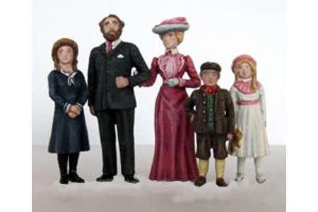 Edwardian Family (painted)