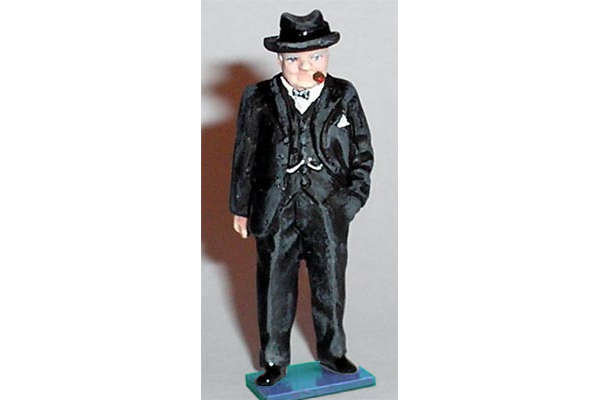 Winston Churchill (painted, on base)