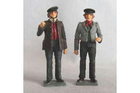 1860s Loco Crew (painted, on bases)