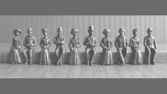OO3 - Seated Edwardian People
