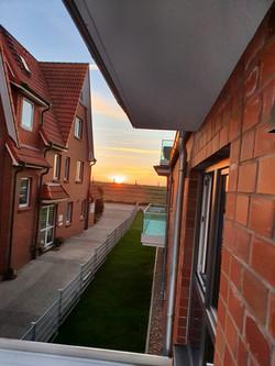 Abendsonne am Balkon