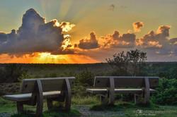 Sonnenuntergang in der Küstenheide