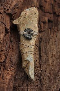 Cave bear bone deep time wisdom talisman