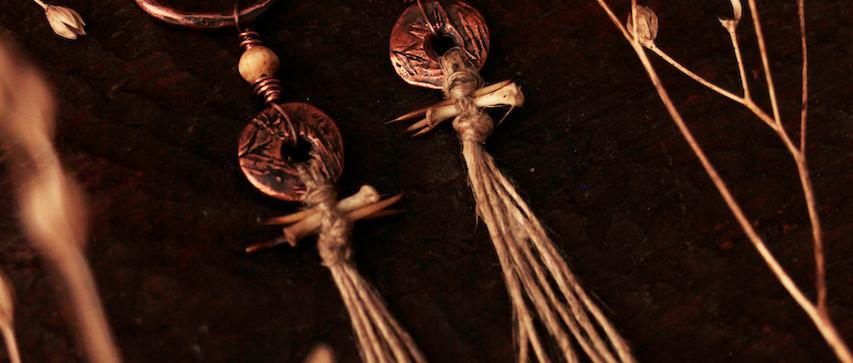 hedgehog bone totem earrings arty.jpg