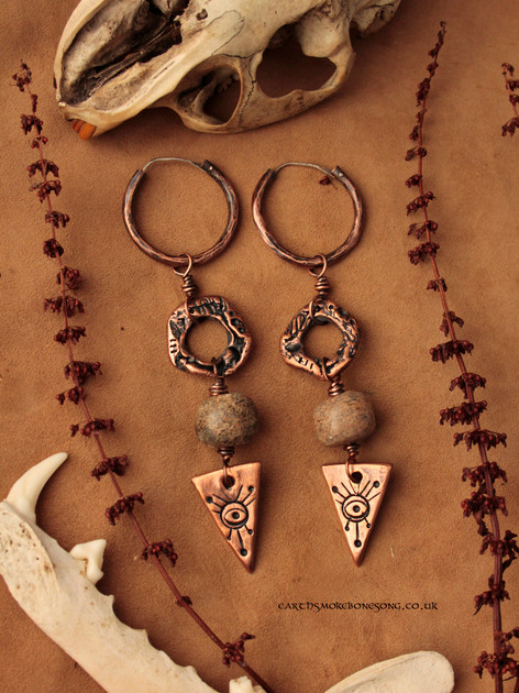 eyes for seers large mammoth bone earrin