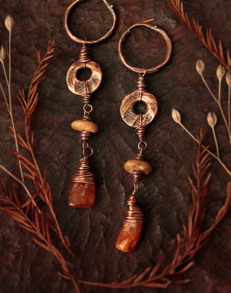 trilobite and amber earrings.jpg
