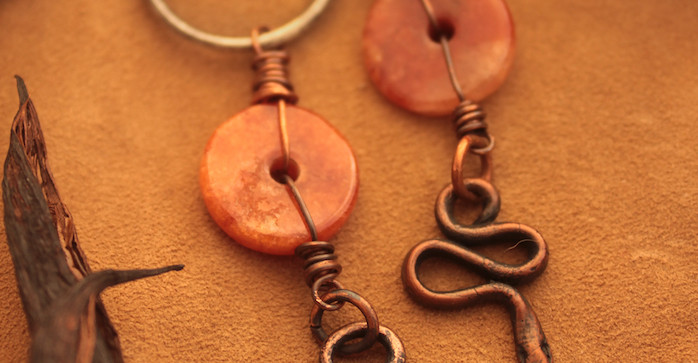 carnelian and snake earrings.jpg