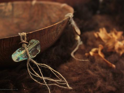 Elemental circle bowl paua shell landsca