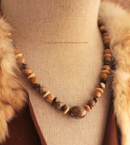 Fossilised horse tooth necklace bust.jpg