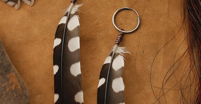 large dotty woodpecker feaher earrings.j