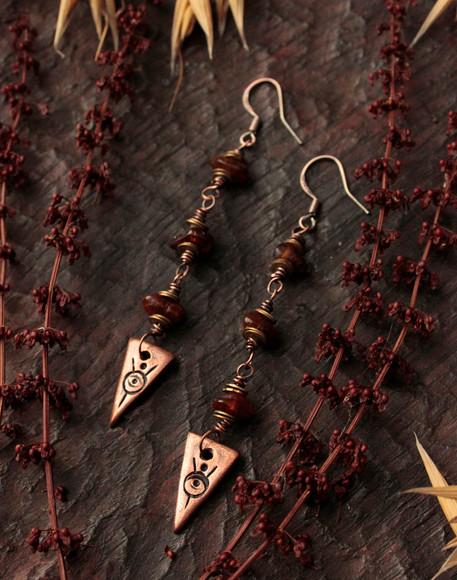 eyes for seers earrings long amber side.