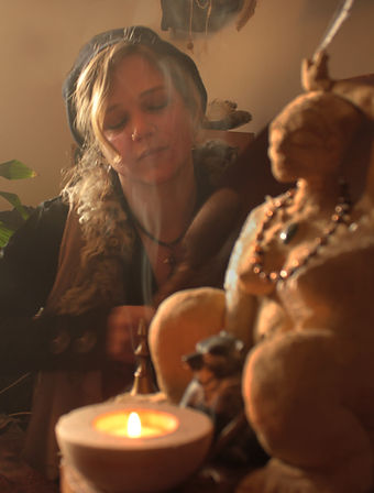 drumming with goddess portrait.jpg