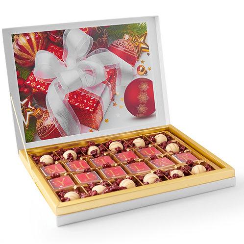 Lüks Mutlu Yıllar Çikolata Hediyelik Kutu