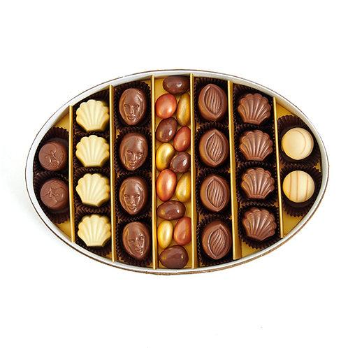 Gourmet Hediyelik Çikolata Oval Kutu