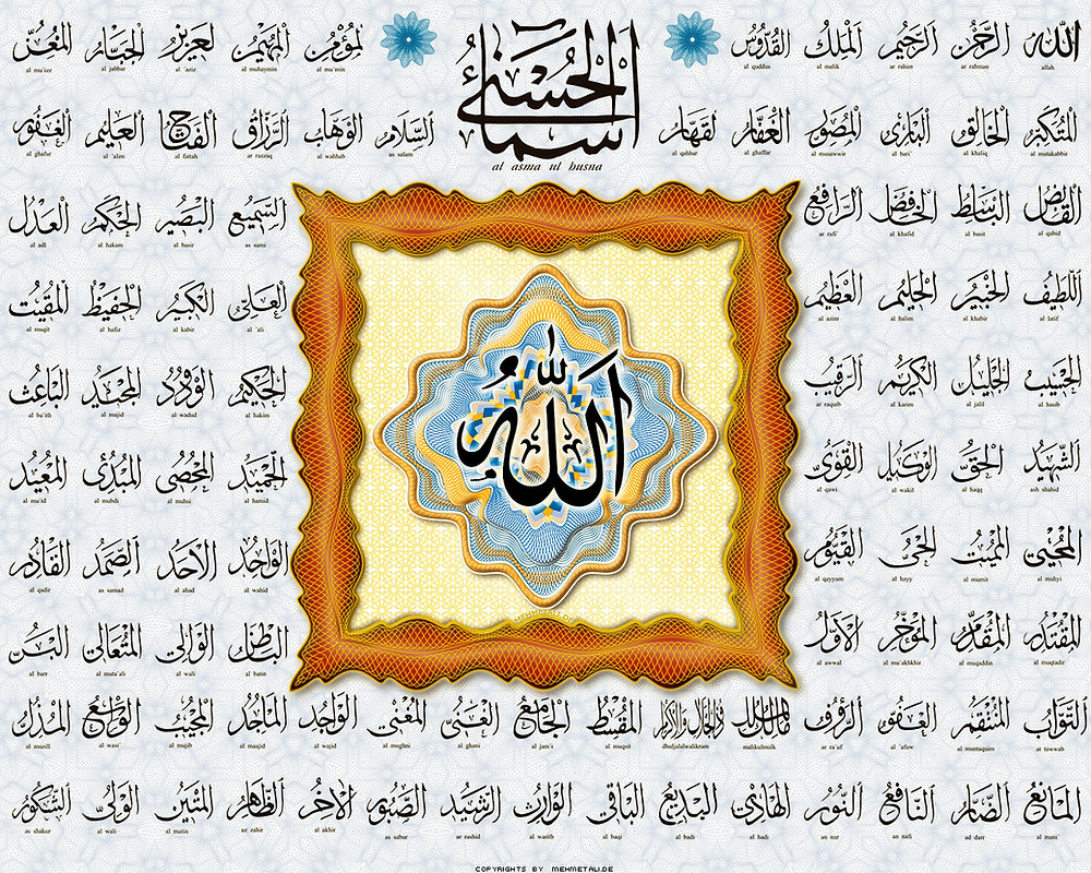 En güzel isimler Allah'ındır.