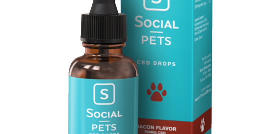 Pets Bacon Broad Spectrum CBD Drops