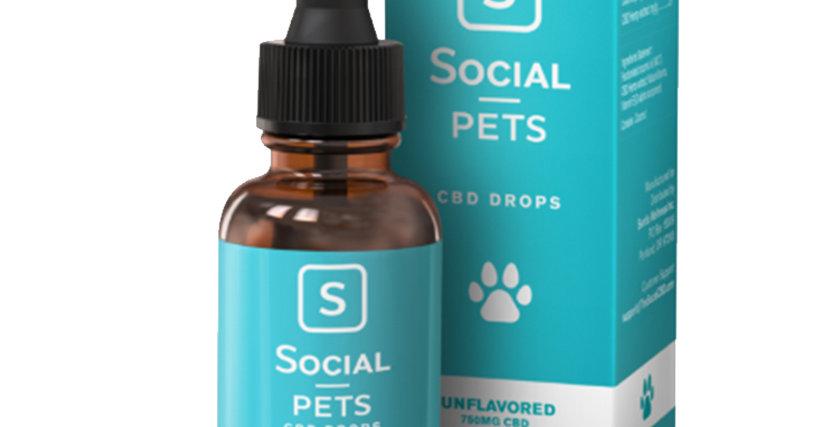 Pets Unflavored Broad Spectrum CBD Drops