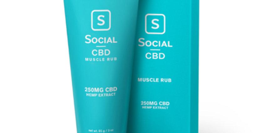 Social Muscle Rub – 250mg