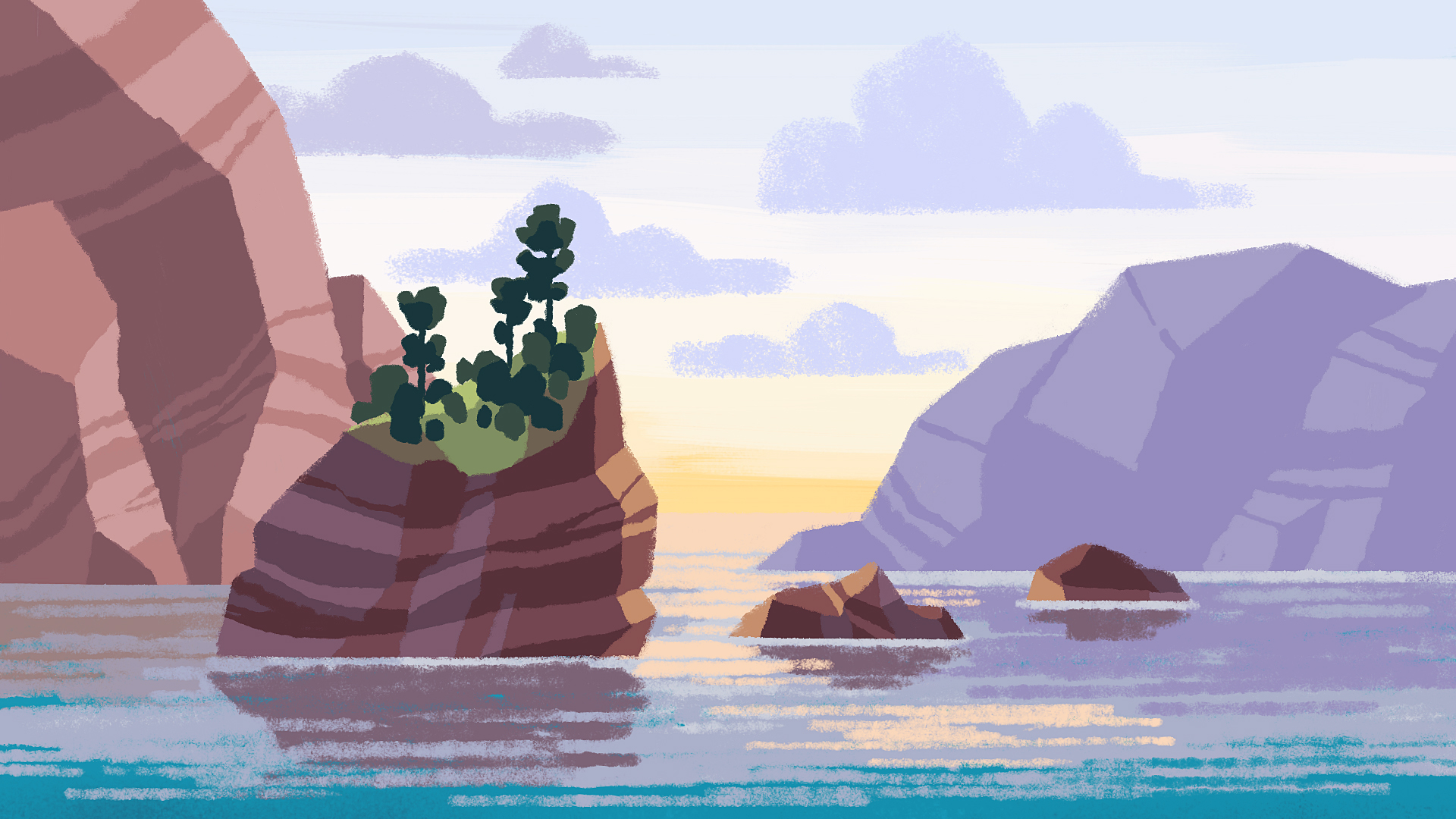Coastal oceanic landscape