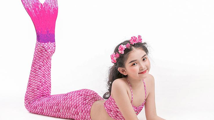Mermaid Tail Swimsuit (Purple)