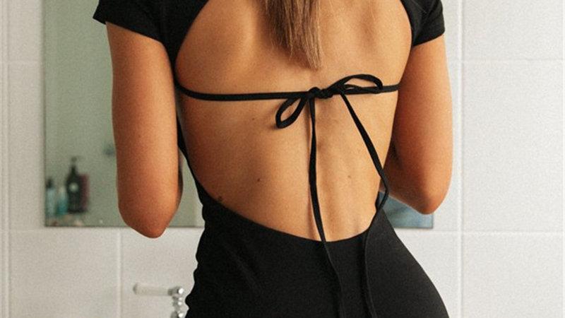 Open Back T-shirt Dress