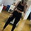 Thumbnail: High-Waisted Ripped Knee Jeggings