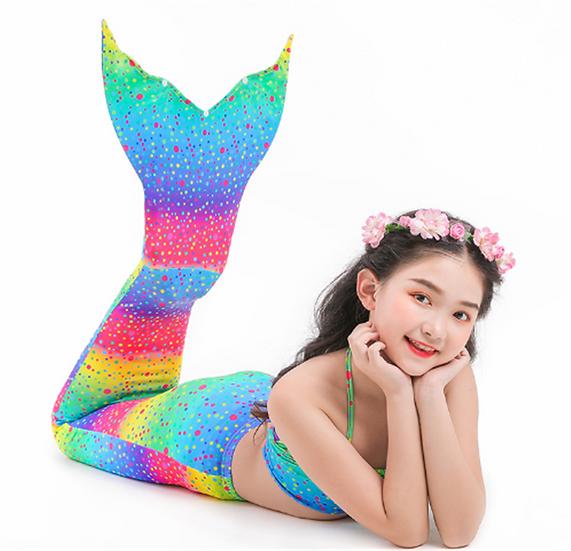 Mermaid Tail Swimsuit (Rainbow)