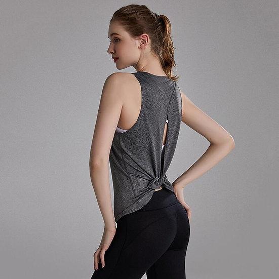 Open Back Vest Top
