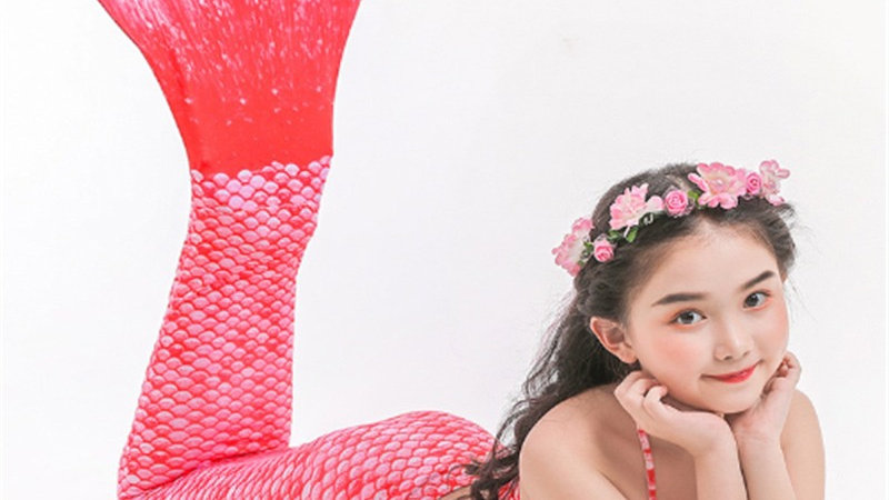 Mermaid Tail Swimsuit (Pink)