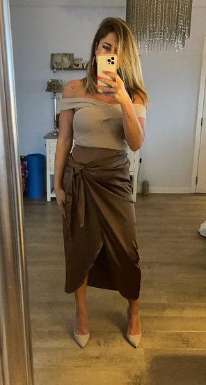 Silky Wrap Over Skirt