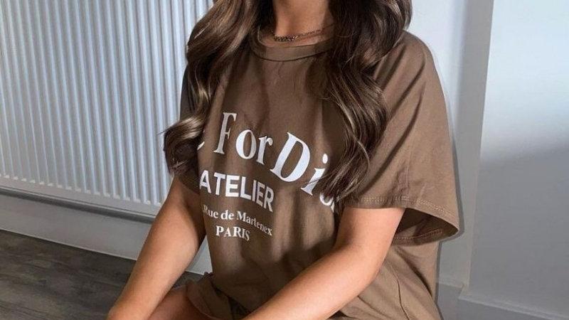 Camel Die for D'or T-Shirt Dress