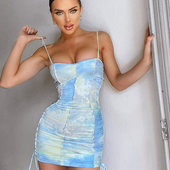 Ava Ruched Mini Dress