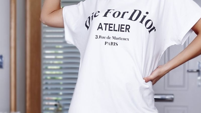White Die For D'or T-Shirt Dress