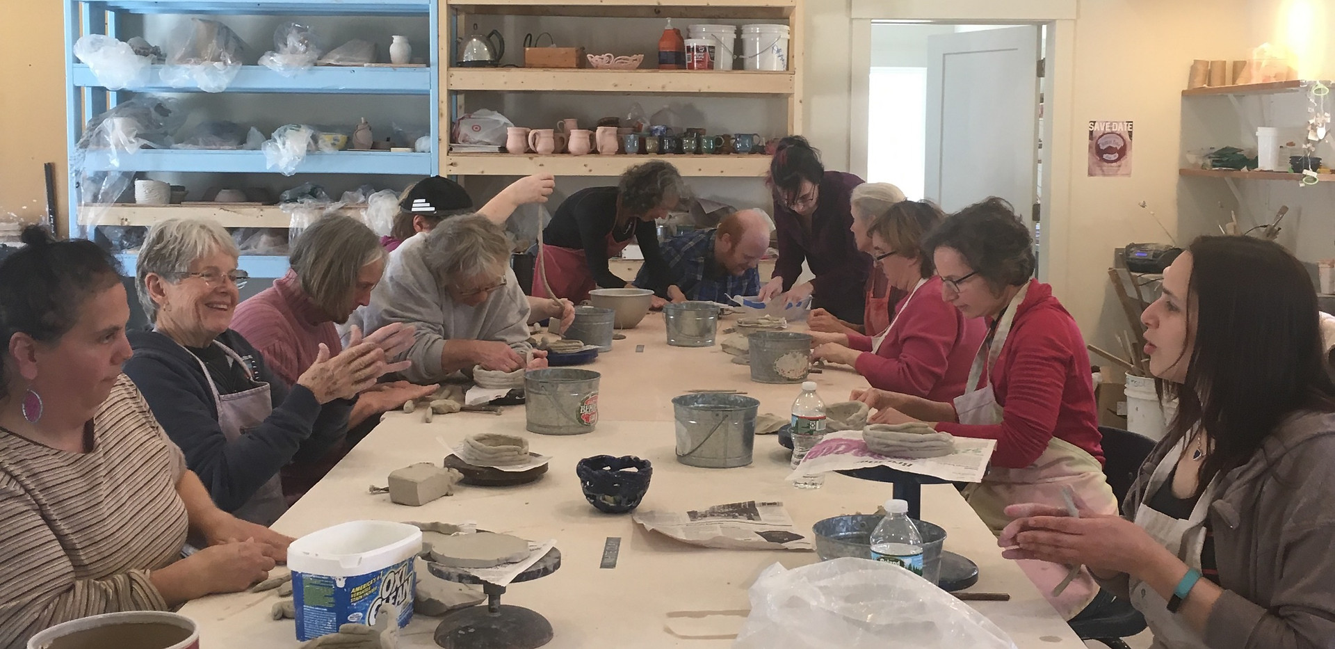 Pottery Class at Featherstone 2019