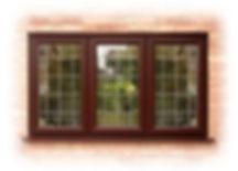 UPVC rosewood window