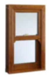 UPVC oak window