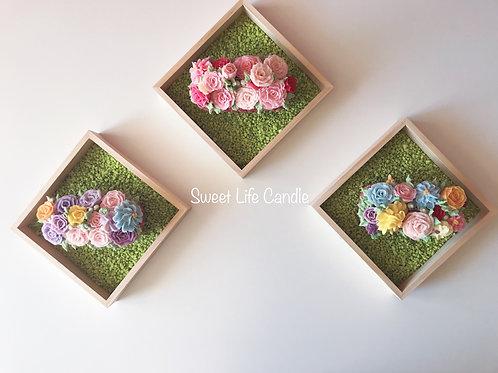 Flower Basket With Candle Holder