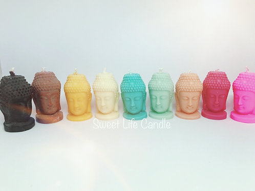 Oriental Buddha Head Candle