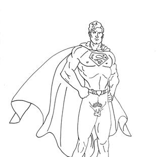 Superman with David's Genitals // Genco Gülan