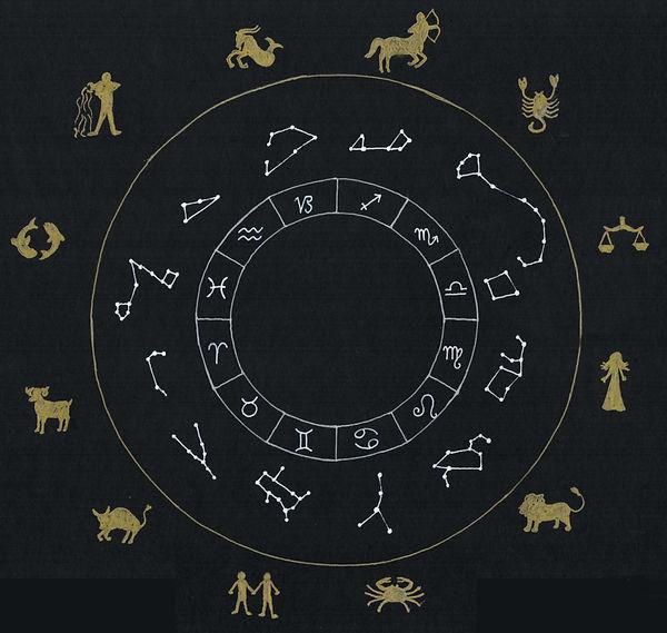 constellations et roue du zodiaque.jpg