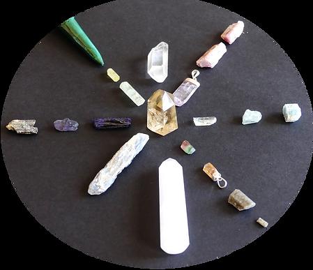 mandala de cristaux lithothérapie