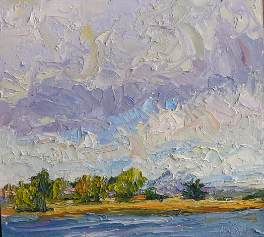 Turbulence Over Crown Hill 11x10 Oil