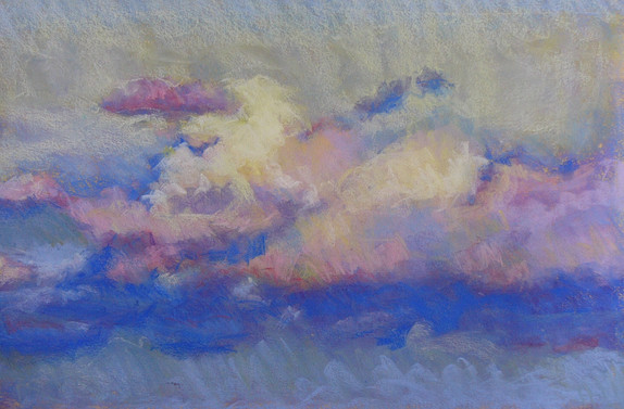 Evening Cumulus  25 X 17 Pastel